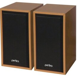 """Компьютерная акустика - Perfeo колонки """"Cabinet"""" 2.0, мощность 2х3 Вт (RMS), бук де..., 0"""