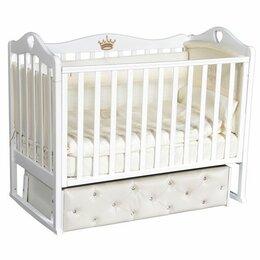 Кроватки - Детская кроватка Кедр Karolina 11 с мягким фасадом, 0