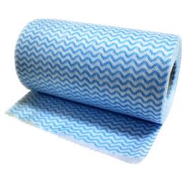 Влажные салфетки - Салфетки, хозяйственные в рулоне РЫЖИЙ КОТ, с перфорацией 25x30 см, синяя вол..., 0