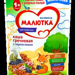 Детское питание - МАЛЮТКА Каша Гречневая с Черносливом с Молоком {с 4 мес} Doy Pack 220г., 0