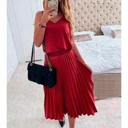 Платья - Плиссированное платье, 0