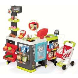 Другое - Супермаркет MAXI Market с тележкой, со световыми и звуковыми эффектами, 50 ак..., 0