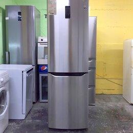Холодильники - Холодильник бу LG total no frost металлик , 0