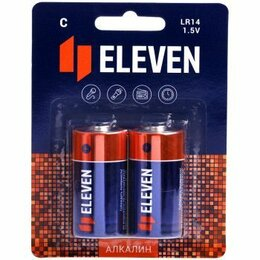 Батарейки - Батарейка Eleven C (LR14) алкалиновая, BC2, 0