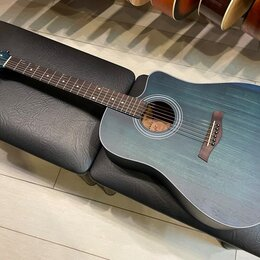 Акустические и классические гитары - Акустическая гитара FLIGHT D-155C MAH BL, 0
