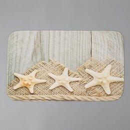 Дизайн, изготовление и реставрация товаров - Коврик для ванной  «Морские звезды» 740*440 мм 1515745, 0