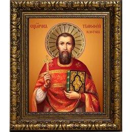 Картины, постеры, гобелены, панно - Тимофей Изотов пресвитер священномученик. Икона на холсте., 0