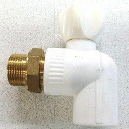 Краны для воды - Кран шаровой угловой полипропиленовый 25*3/4 для радиатора, 0