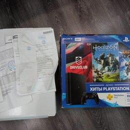 Игровые приставки - PlayStation 4 slim 500gb + 160 игр, 0