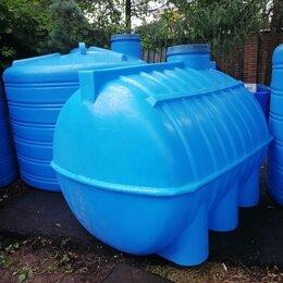 Баки - Емкость (бочка) для воды горизонтальная ОГ 3000 литров Aquaplast , 0
