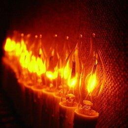 """Новогодний декор и аксессуары - Гирлянда """"Мерцающие свечи"""" 20 лампочек, 0"""