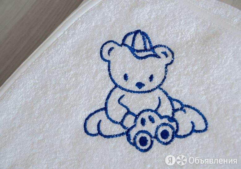 Детский уголок Махровый Мишка с машинкой вышивка 120х120 см (белый) по цене 1100₽ - Полотенца, фото 0