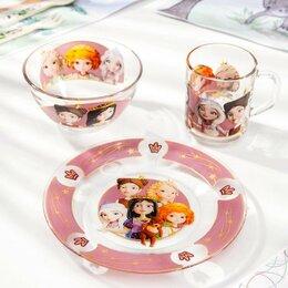 Одноразовая посуда - Набор посуды детский Priority 'Царевны', 3 предмета, 0