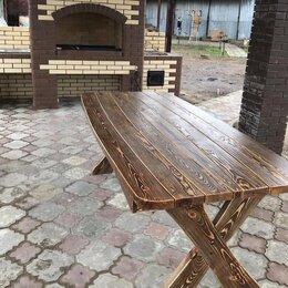 Столы - Стол «Бочка» из массива сосны 2000х1000х780мм. , 0
