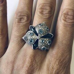 Кольца и перстни - Кольцо золото с бриллиантами и топазами , 0