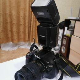 Фотоаппараты - Зеркальный фотоаппарат Nicon d 5200 + вспышка, 0