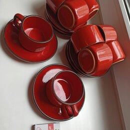 Сервизы и наборы - Керамический кофейный сервиз красный производство Югославия, 0