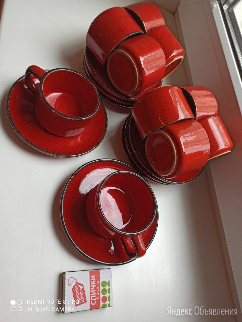 Керамический кофейный сервиз красный производство Югославия по цене 1500₽ - Сервизы и наборы, фото 0