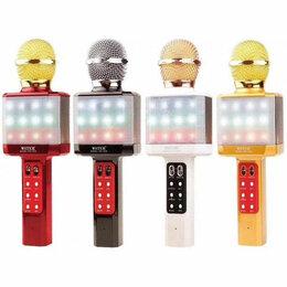 Микрофоны - Беспроводной микрофон караоке Bluethooth WS-1828, 0