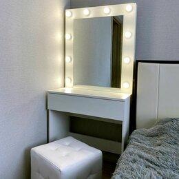 Столы и столики - Гримёрный столик и гримёрное зеркало, пуф, 0