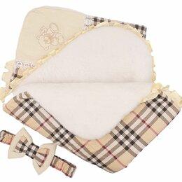 Конверты и спальные мешки - Б-3 САЛЕН  «Элит» Одеяло-конверт с бантом зима Бежевый/клетка, 0
