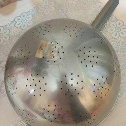 Миски и дуршлаги - Дуршлаг алюминиевый большой ссср, 0