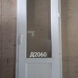 Межкомнатные двери - Дверь пластиковая балконная (б/у) 2180(в)х670(ш), 0