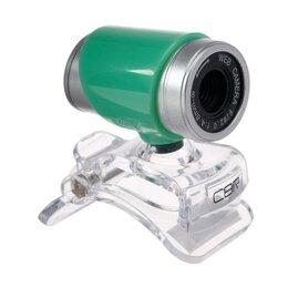 Веб-камеры - Веб-камера CBR CW 830M Green, 0.3 МП, 640х480, USB 2.0, микрофон, зеленая, 0