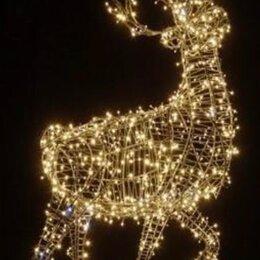 Новогодний декор и аксессуары - Светодиодная фигура оленя , 0