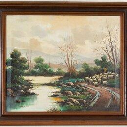 Картины, постеры, гобелены, панно - Картина антикварная 1930-1940 гг. , 0