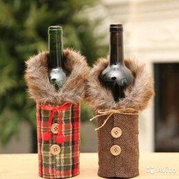Подарочная упаковка - Праздничный чехол на бутылку, 0