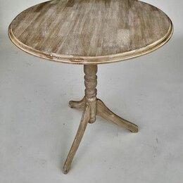 Столы и столики - Деревянный круглый стол Marcel & Chateau H828 D68, 0