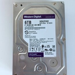 Жёсткие диски и SSD - Жёсткий диск WD Purple 6 тб, 0