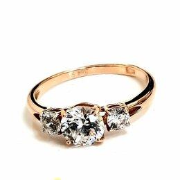 Кольца и перстни - Золотое кольцо с кристаллами Сваровски, 0
