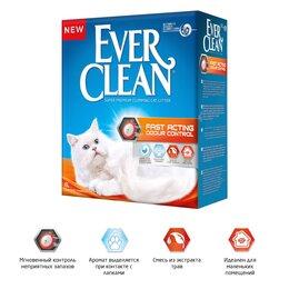 Наполнители для туалетов - Ever Clean Fast Acting комкующийся наполнитель быстрого действия для кошек 6л, 0
