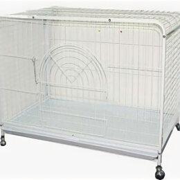 Транспортировка, переноски - N1 Клетка  для домашних животных на колесах, эмаль 94*56*72, 0