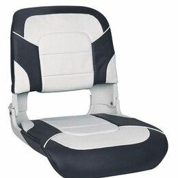 Кресла и стулья - Кресло пластмассовое складное с подложкой All Weather High Back Seat, белый/ч..., 0