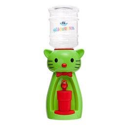 """Кулеры для воды и питьевые фонтанчики - Кулер детский """"Кошка"""" Акваняня - многообразие расцветок (зелено-красный), 0"""