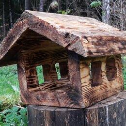 Миски, кормушки и поилки - Оригинальные кормушки для птиц из дерева, 0