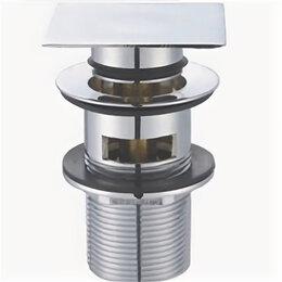 Запорная арматура - Донный клапан BelBagno с системой Клик-клак с переливом с квадратной крышкой ..., 0