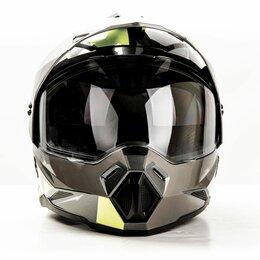 Спортивная защита - Шлем мото HIZER J6802, 0