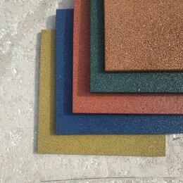 Тротуарная плитка, бордюр - Резиновая плитка 500*500, 0