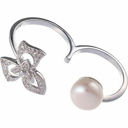 Кольца и перстни - Element47 кольцо серебро вес 5,18 вставка жемчуг, фианит арт. 742972, 0