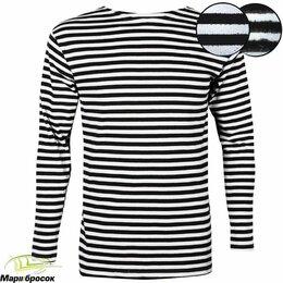 Рубашки - Тельняшка зимняя вязанная с черной полоской хб шерсть, 0