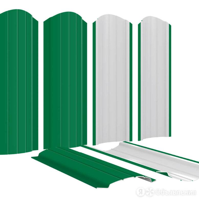 Штакетник металлический Полукруглый 110мм RAL6029 Зеленая мята по цене 158₽ - Заборы, ворота и элементы, фото 0