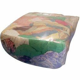 Тряпки, щетки, губки, салфетки - Ветошь махровая цветная в брикетах по 10 кг., 0