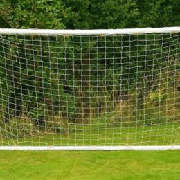 Настольные игры - Сетка для футбольных ворот 3.0мм (ПА) (2.5x7.5x1.0x2м), 0