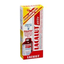 Зубная паста - Набор Lacalut Aktiv зубная паста, 75 мл + ополаскиватель для полости рта, 50 ..., 0