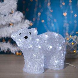 "Головоломки - Luazon Lighting Фигура акрил. ""Медведь стоячий малый"" 28х15х25 см, контр. с д..., 0"
