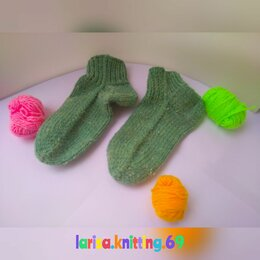 Носки - Вязаные детские носки , 0